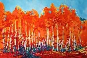 Orange Aspen Grove
