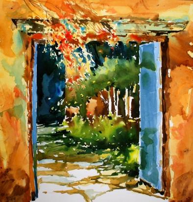 Blue Doors Courtyard