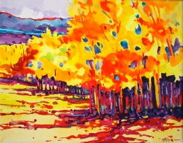 Color Through The Creede Aspens 24x28