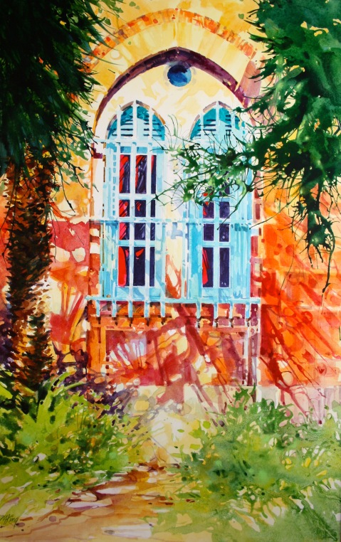 Jerusalem Courtyard 30x40