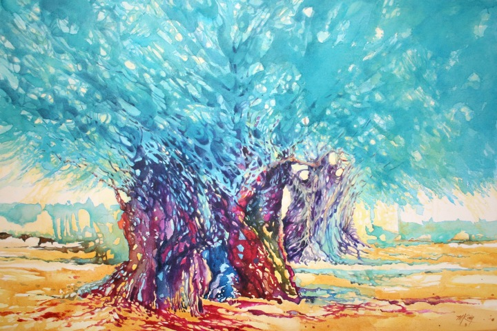 Mount of Olives Jerusalem 34x44